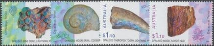 AUS 17/08/2020 Opalised Fossils set of 4
